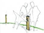 Visitor Center 8 Haptische Erfahrung Landmarks Meilensteine Kaiser Tweeds Outdoor Installation Leitsystem Wegweiser